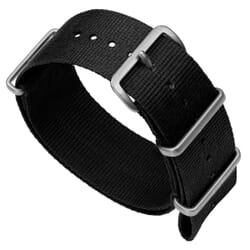 ZULUDIVER 141 Nylon NATO Watch Band - Black