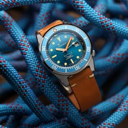 Squale 1521 Swiss Made Divers Watch - Ocean Blue Polished Case