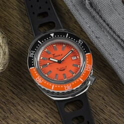 Squale 2002 - Orange Dial With Polished Case