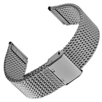 """Geckota """"Oblique"""" Milanese Mesh Stainless Watch Strap"""