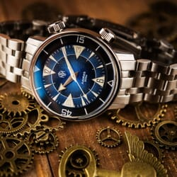 NTH Azores Vintage Style Divers Watch Blue Dial