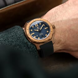 Boldr Odyssey Bronze Prussian Blue Automatic Divers Watch