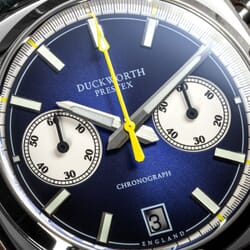 Duckworth Chronograph Watch with Sunburst Blue Dial and Blue Strap