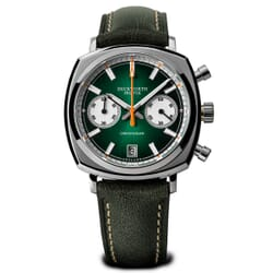 Duckworth Chronograph Watch with Sunburst Green Dial and Green Strap