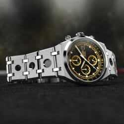 FORZO Gridster Chronograph Watch Black / Gold Dial