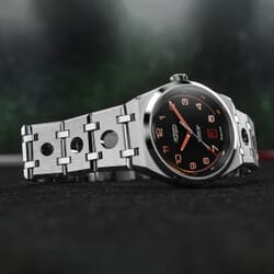 FORZO Gridster Automatic Watch Black / Orange Dial