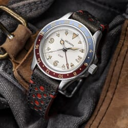 Redhill Racing Perforated Genuine Leather Watch Strap