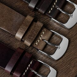 Clanville Vintage Horween Chromexcel Leather Dress Watch Strap