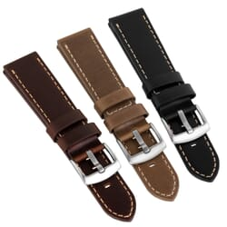 Geckota Old Chester Genuine Oiled Leather Watch Strap