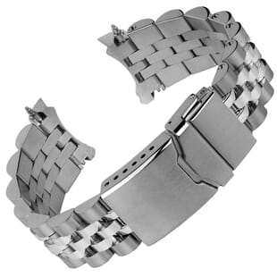 Diver's Warrington Stainless Steel Watch Strap for SEIKO
