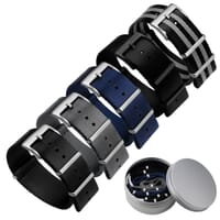 Set of 5 Premium ZULUDIVER Herringbone NATO Watch Straps