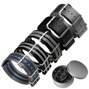 Set of 5 Professional ZULUDIVER Herringbone NATO Watch Straps
