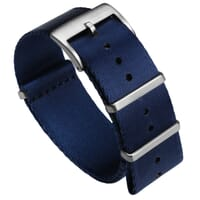 Premium ZULUDIVER Military Herringbone NATO Watch Strap - Navy Blue