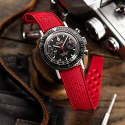 ZULUDIVER Vintage Tropical Style FKM Rubber Watch Strap - Red