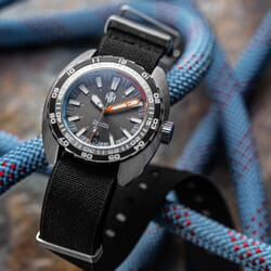 ZULUDIVER E-NATO Elasticated Woven Watch Strap - Black
