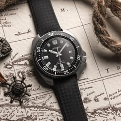 ZULUDIVER Padded Tropical Rubber Watch Strap (MkII)