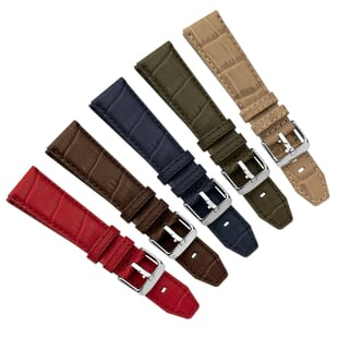Sorico Water-Resistant Alligator Grain Leather Watch Strap