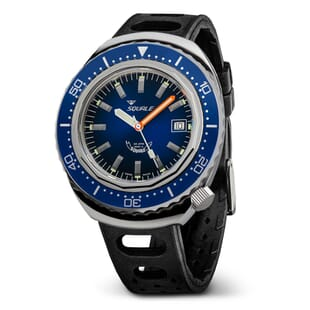 Squale 2002 Diver's Watch With Blue Dial And Polished Case