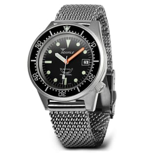 Squale 1521 Swiss Made Diver's Watch - Black With Blasted Case