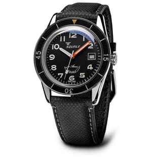 Squale Sub-39 Black Arabic 300m Swiss Made Diver's Watch