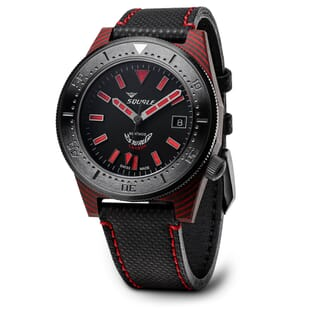 Squale T-183 Red Carbon Fibre Swiss Made Diver's Watch