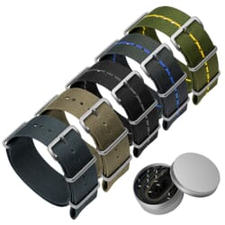 Set of 5 Classic ZULUDIVER Military NATO Watch Straps