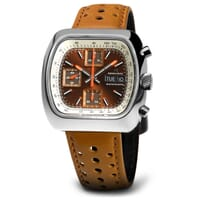 Straton Speciale Automatic Chronograph Watch - Brown / White
