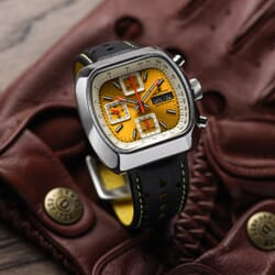Straton Speciale Automatic Chronograph Watch - Yellow