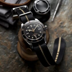 Henwick Single Pass NATO Strap - Black & Beige