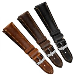 Demonte Handmade Remborde Genuine Leather Watch Strap