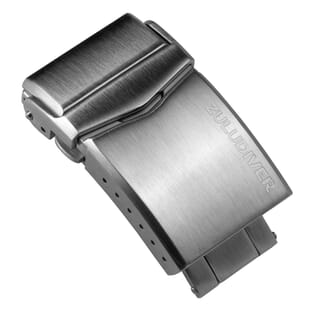 ZULUDIVER Solid Fold-Over Diver Buckle with Push Buttons