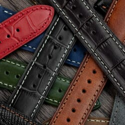 Crosby Padded Genuine Leather Quick-Release Watch Strap
