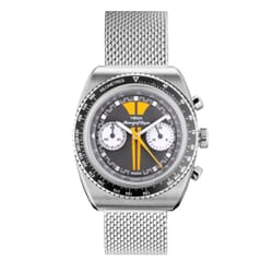 YEMA Meangraf Super Y70 Chronograph Watch - Matt Grey and Yellow Dial - 39mm Front