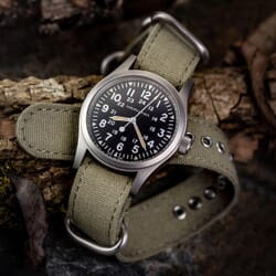 ZULUDIVER Vintage Canvas ZULU Watch Strap - Army Brown