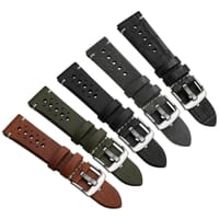 Ashby Vintage Racing Style Genuine Italian Leather Watch Strap