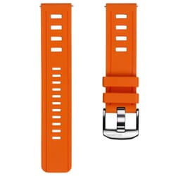 ZULUDIVER 1960s Swiss Style Diver's Quick Release Watch Strap - Orange - 22mm