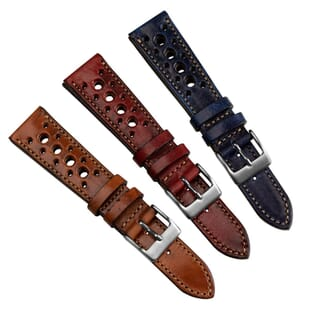 Radstock Racing Style Genuine Leather Watch Strap