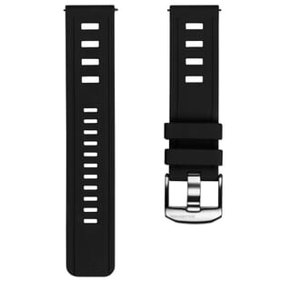 ZULUDIVER 1960s Swiss Style Diver's Quick Release Watch Strap - Black - 22mm