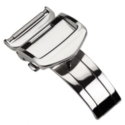 Stainless Steel Deployment Buckle for Leather Watch Straps