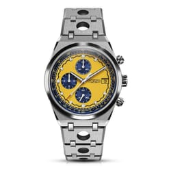 FORZO Gridster Chronograph Watch Yellow / Blue Dial