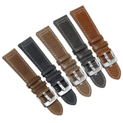Disley Vintage Double-Stitched Genuine Leather Watch Strap