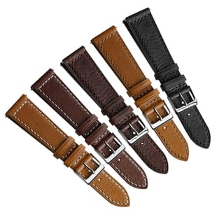 Dulas Vintage Genuine Leather Quick Release Dress Watch Strap