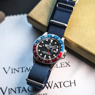 The Vintage Watch Company NATO by Geckota - Navy Blue