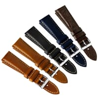 Vintage Otley Padded Genuine Leather Watch Strap
