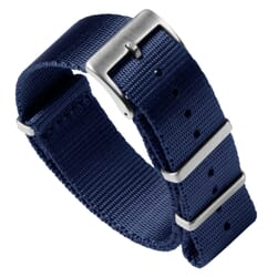 Premium Seat Belt NATO Watch Strap - Navy Blue