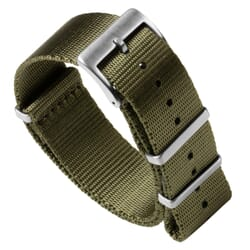 Premium Seat Belt NATO Watch Strap - Olive Green