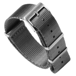 Premium Seat Belt NATO Watch Strap - Grey