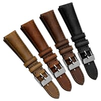 Vintage Highley Genuine Leather Quick Release Watch Strap - Shorter Length