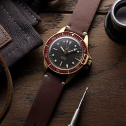 Yema Superman Automatic Bronze - Bordeaux - 39mm