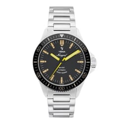 Yema Navygraf Heritage Automatic Watch - Black Dial - 39mm